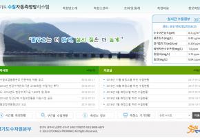 경기도 수질자동측정 관제시스템 메인화면